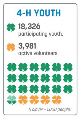 4-H impact numbers for 2019