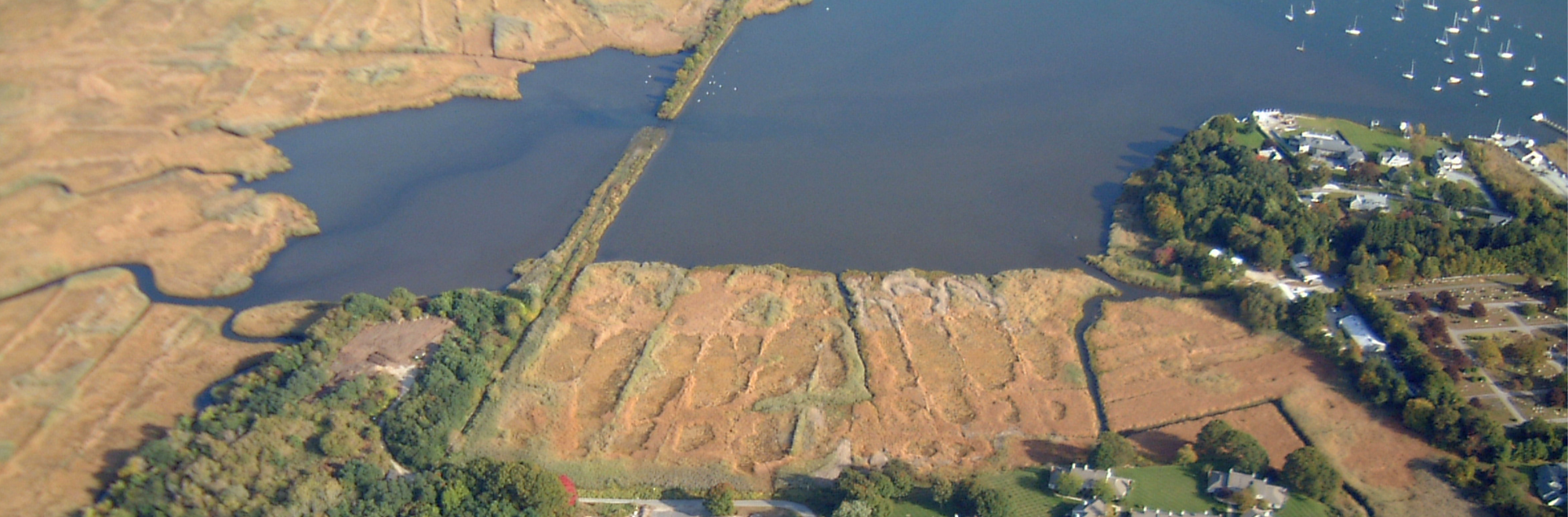 aerial view of Griswold Point in Connecticut