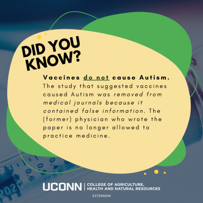 did you know vaccines and autism infographic